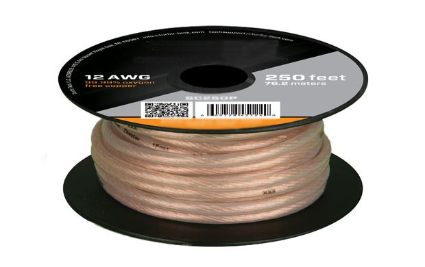 250ft 12AWG Oxygen-Free Pure Bare Copper Speaker Wire Cable