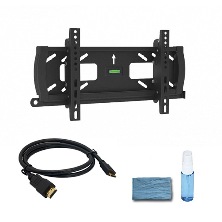 "Adjustable Tilting Wall Mount for 32"" – 55"" Flat Panel TVs -  w/ 6ft HDMI® Cable & Cleaning kit"
