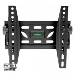 Adjustable Tilting Wall Mount Bracket for LCD LED Plasma (Max 110 lbs, 23 – 42 inch), BLACK,