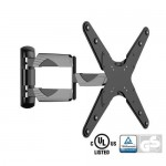 Adjustable Tilting/Swiveling Wall Mount Bracket for LCD LED Plasma (Max 77 lbs, 23 – 55 inch), BLACK & SILVER,