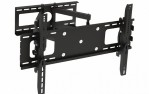 Adjustable Tilting/Swiveling Wall Mount Bracket for LCD LED Plasma (Max 165 lbs, 37 – 70 inch), BLACK,
