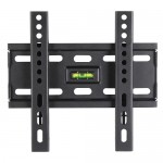 Ultra Low Profile - Wall Mount Bracket for LCD LED Plasma (Max 110 lbs, 23 – 42 inch), BLACK,