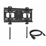 "Low Profile Fixed Wall Mount for 32"" – 55"" Flat Panel TVs -  w/ 6ft HDMI® Cable"