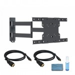 "Adjustable Tilting/Swiveling Wall Mount for 32"" – 55"" Flat Panel TVs -  w/ 2 x 6ft HDMI® Cables & Cleaning kit"