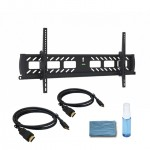 "Adjustable Tilting Wall Mount for 37"" – 70"" Flat Panel TVs -  w/ 2 x 6ft HDMI® Cable & Cleaning kit"