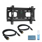 "Adjustable Tilting Wall Mount for 32"" – 55"" Flat Panel TVs -  w/ 2 x 6ft HDMI® Cable & Cleaning kit"