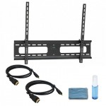 "Adjustable Tilting Wall Mount for 37"" – 70"" Flat Panel TVs -  w/ 2 x 6ft HDMI® Cables & Cleaning kit"